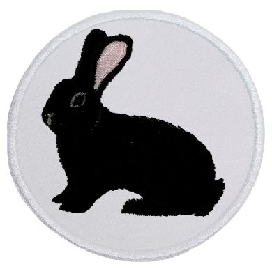 Kaninchen Deutscher Riese schwarz ... Aufnäher Patch 8 cm (2036)