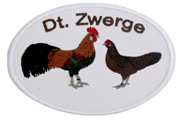 Deutsche Zwerghühner wildfarbig ... Aufnäher Patch 8 cm (2007)