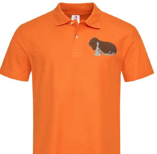 Polo-Shirt bestickt mit Deutscher Widder wildfarbig weiß P2033 anthrazit 3XL