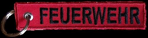 Schlüsselanhänger gestickt Feuerwehr (727)