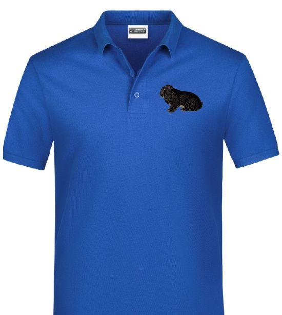 Polo-Shirt bestickt mit Deutscher Widder chinchillaf. P2037 anthrazit 3XL