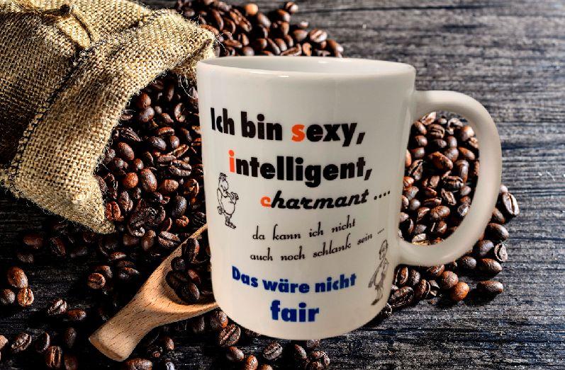 Fun Kaffeetasse Ich bin sexy charmant intelligent Tasse T8