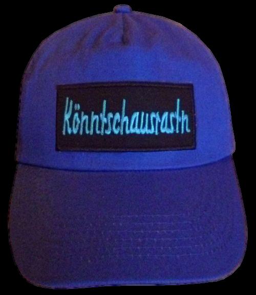 Basecap Cap bestickt ...Könntschausrastn... in blau  (756-1)