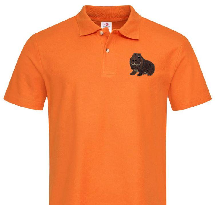 Polo-Shirt bestickt mit Deutscher Widder wildfarbig P2027 anthrazit 3XL