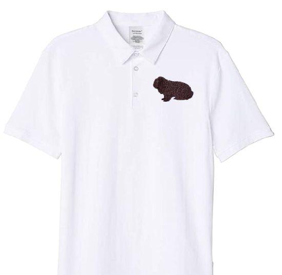 Polo-Shirt bestickt mit Deutscher Widder havannafarbig P2022 anthrazit 3XL