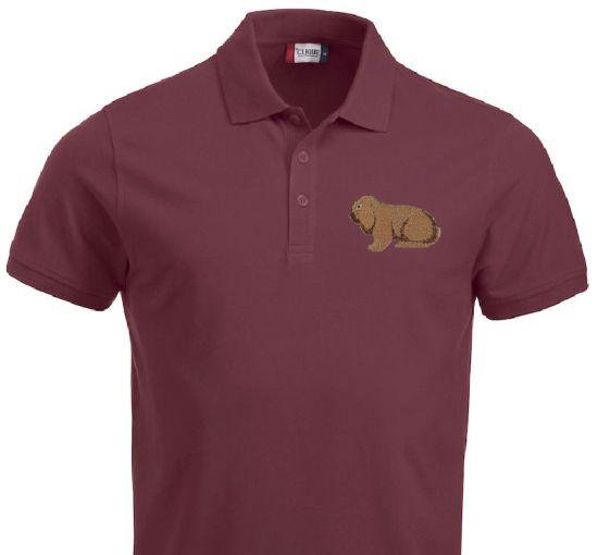 Polo-Shirt bestickt mit Deutscher Widder thüringerfarbig P2032 anthrazit 3XL