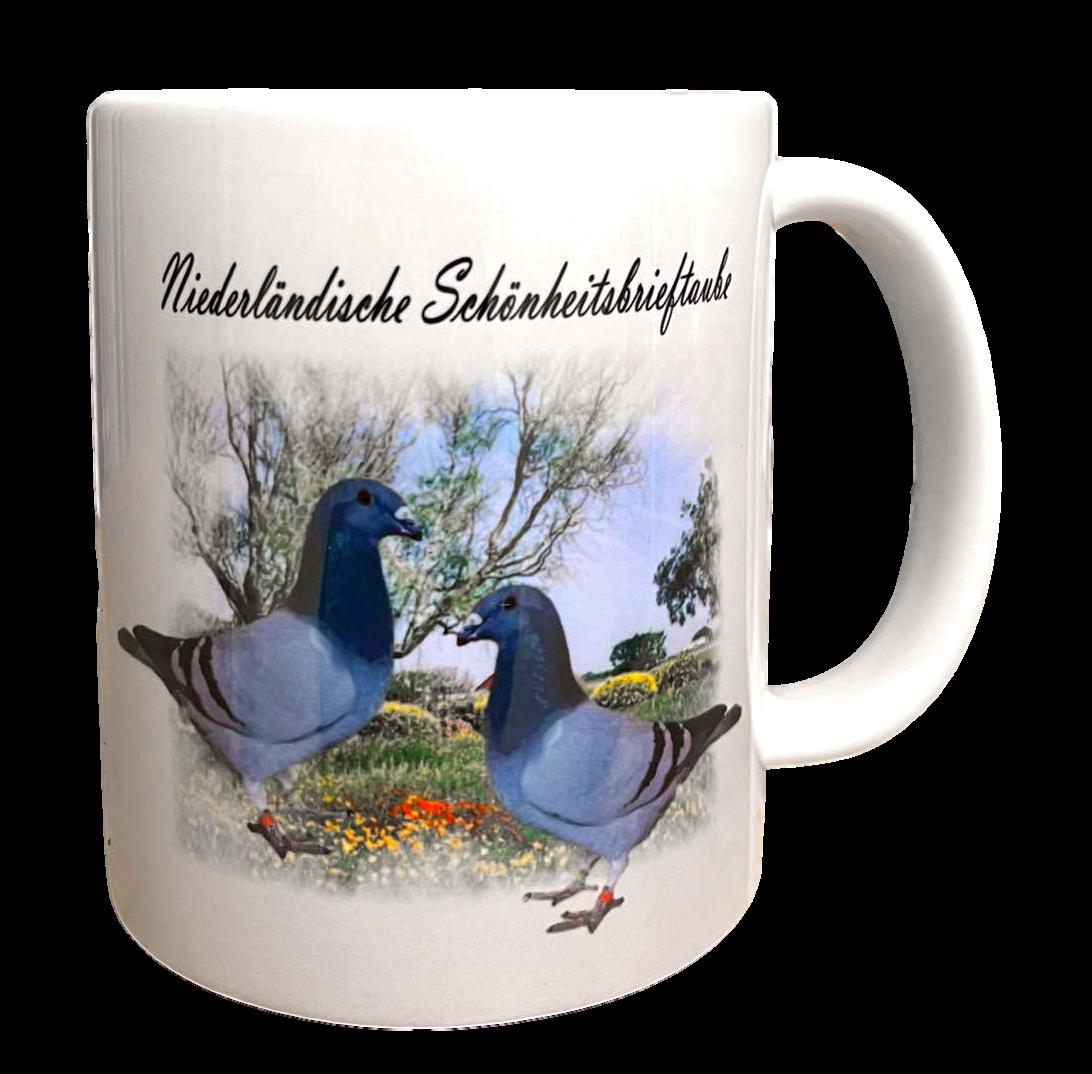 Kaffeetasse Tasse Tauben Niederl. Schönheitsbrieftaube  T15