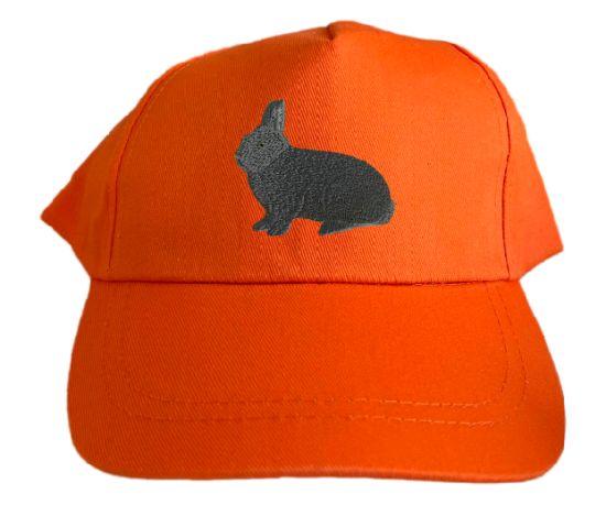 Basecap bestickt .. Kaninchen Blauer Wiener MB2060 grau